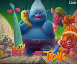 Characters of Trolls puzzle