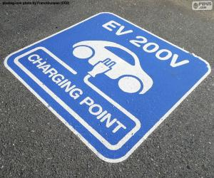 Charging electric cars puzzle
