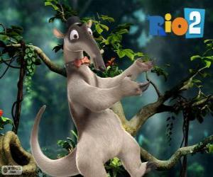 Charlie, an anteater dancing tap dance, Rio 2 puzzle