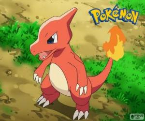 Charmeleon is the evolution of Charmander and Charizard Evolves puzzle