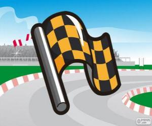 Checkered flag puzzle