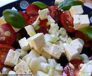 Cheese salad puzzle