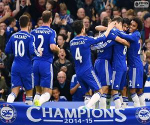 Chelsea FC champion 2014-15 puzzle
