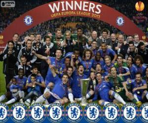 Chelsea FC, champion UEFA Europe League 2012-2013 puzzle