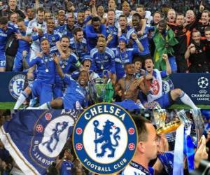 Chelsea FC, the 2011-2012 UEFA Champions League champion puzzle