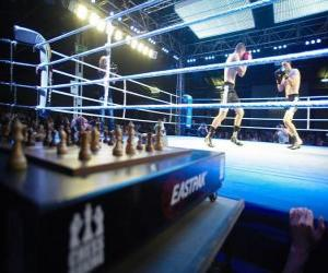 Chess boxing is a hybrid sport which combines boxing with chess in alternating rounds. puzzle