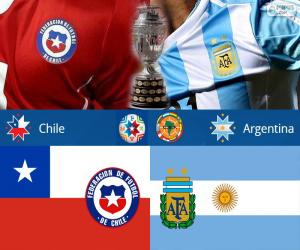 CHI - ARG, final Copa America 2015 puzzle