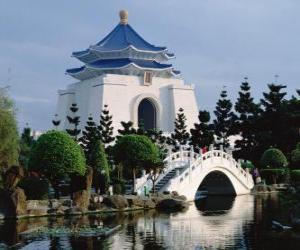 Chiang Kai-Shek Memorial Hall, Taipei, Taiwan puzzle