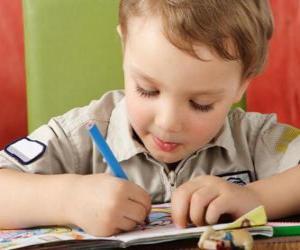 Child painting puzzle