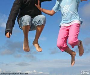 Children jumping puzzle