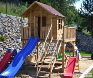Children's playground puzzle