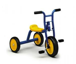 Children tricycle or trike  puzzle