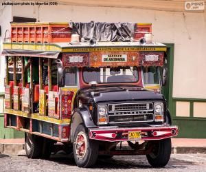 Chiva bus puzzle