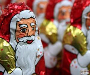 Chocolate Santa Claus puzzle