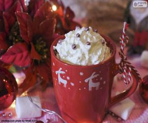 Chocolate to the Christmas cup puzzle