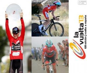 Chris Horner champion of the Tour of Spain 2013 puzzle