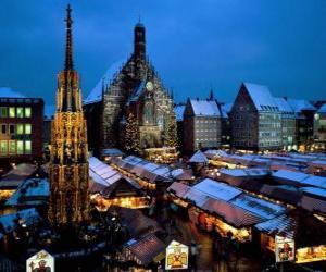 Christkindl Market Nuremberg Bavaria Germany puzzle
