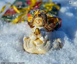 Christmas Angel praying puzzle