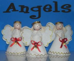 Christmas angels puzzle