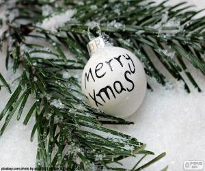 Christmas ball, Mery Xmas puzzle