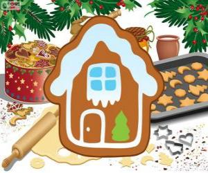 Christmas biscuit house shaped puzzle