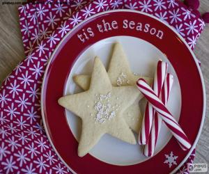 Christmas cookies and candy canes puzzle