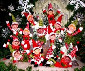 Christmas elves group puzzle
