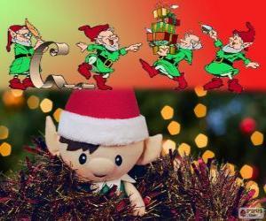 Christmas elves puzzle