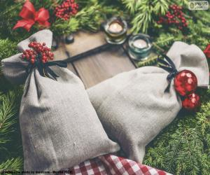 Christmas gift bags puzzle