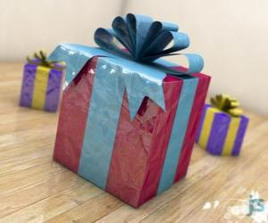 Christmas gifts adorned with ribbons puzzle