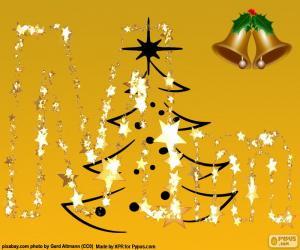 Christmas letter M puzzle