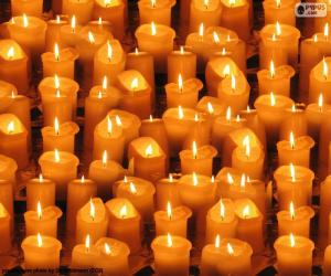 Christmas lit candles puzzle