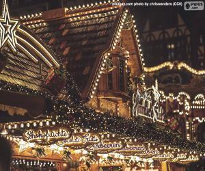 Christmas market lights puzzle