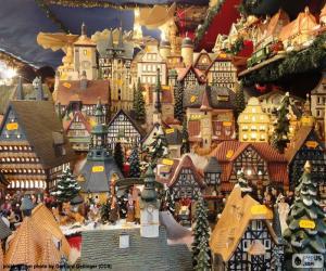 Christmas market, ornaments puzzle