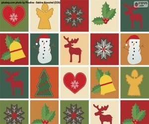 Christmas motif paper puzzle