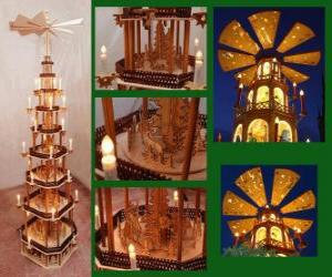 Christmas pyramid puzzle