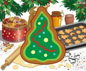 Christmas tree, a Christmas cookie puzzle