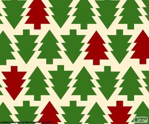Christmas tree background puzzle