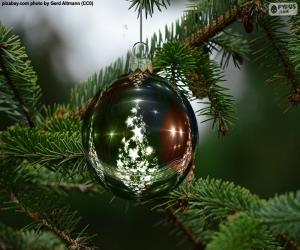 Christmas tree ball puzzle