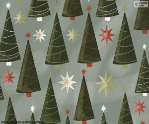 Christmas trees and stars puzzle
