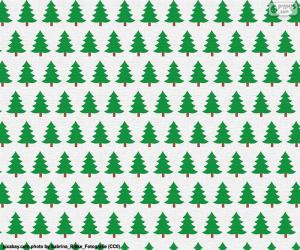 Christmas trees paper puzzle
