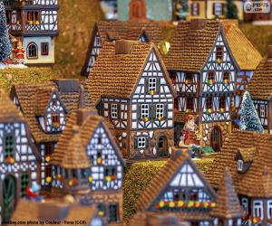 Christmas village puzzle