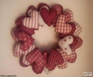 Christmas wreath wreath puzzle