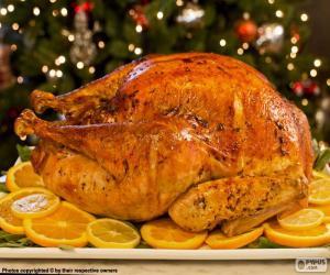 Citrus Christmas turkey puzzle