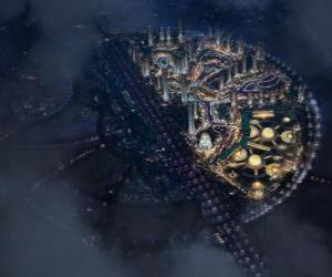 City in the intergalactic space puzzle