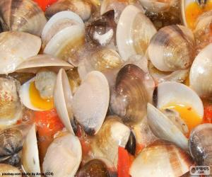 Clams with tomato puzzle