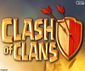 Clash of Clans logo puzzle