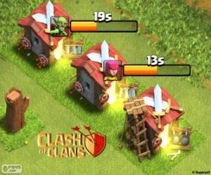 Clash of Clans of barracks puzzle