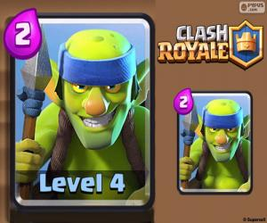 Clash Royale Spear Goblins puzzle