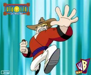 Clay Bailey, the Xiaolin Dragon of Earth, a cowboy from Texas puzzle
